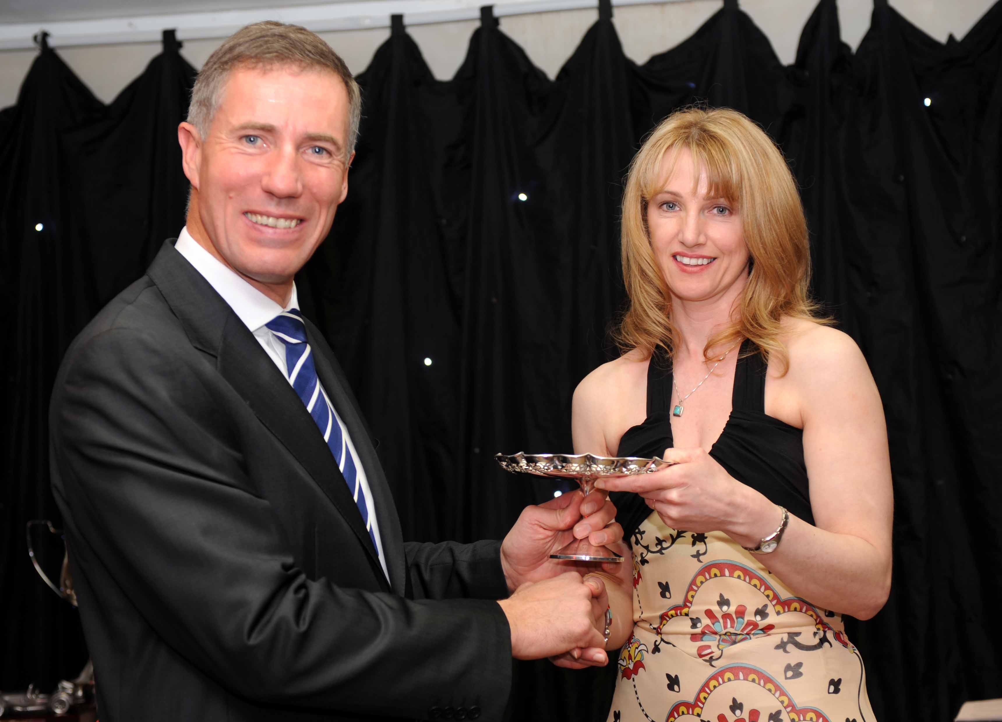 Andy Green Presents Amanda with the Goodwin Trophy
