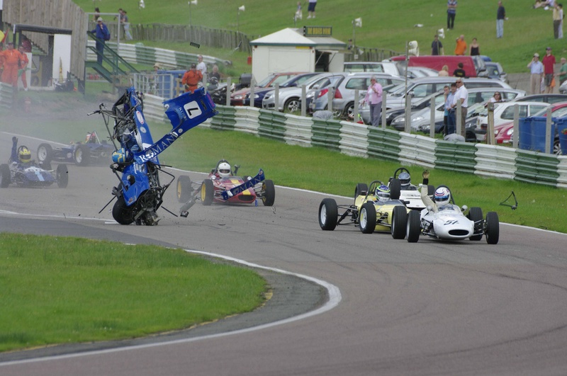 Mallory Park Crash 1 - Copyright Andy Newman 07826 892490